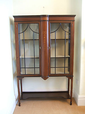 Mahogany Inlaid Display Cabinet