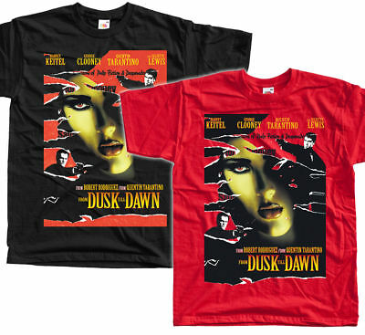 From Dusk Till Dawn, movie poster, 1996 T SHIRT BLACK RED all sizes S to 5XL