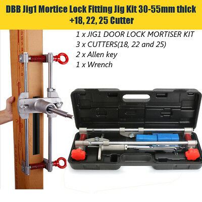 US Mortice Lock 18/22/25mm Kit for Jig DBB-JIG1 Door Lock Mortiser With 3 Cutter