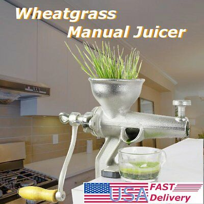 USA 1-1.5L Stainless Steel Wheat Grass Manual Hand Juicer Health Juice Extractor