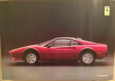 Ferrari 208 Turbo Factory Car Poster Extremley Rare! Out Of Print!