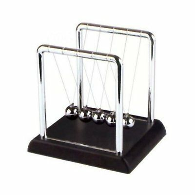 Newtons Cradle Balance Balls 7 1/4 inch Art in Motion Science Puzzle Desk Toy