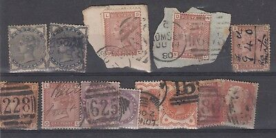 GB QV Collection of 13 Values Used X9082