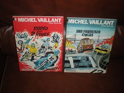Michel Vaillant - Lot De 2 Tomes Editions Lombard Annees 90 Dos Numerotes