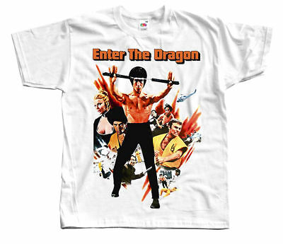BRUCE LEE Enter the dragon, Movie poster T SHIRT WHITE all sizes S to 5XL