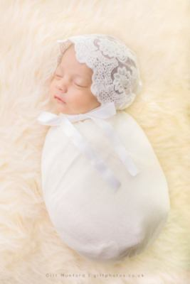 Iced Ivory Newborn Wrap Newborn Photo Prop Stretch Wrap Photography Prop