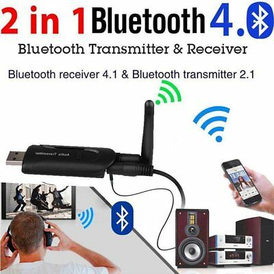 USB Bluetooth4.0 Wireless A2DP Audio Transmitter Stereo Adapter for TV PC LOT AU