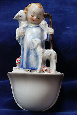 Rare Large Vintage Goebel, MJ Hummel #35/1 TM 3 - Holy Water Font, Good Shepard