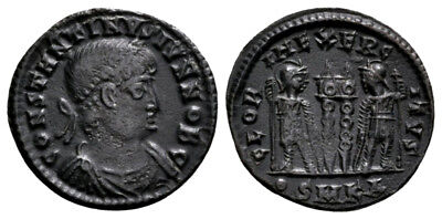 CONSTANTINE II (330-335 AD) Extremely Rare Follis. Cyzicus #RA 10059