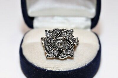 Russian Old Style Amazing 14K Gold Diamond And Brilliant Decorated Amazing Ring