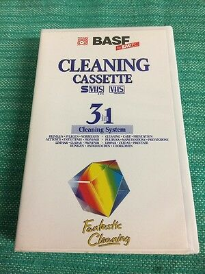 Base By EMTEC Cleaning Cassette VHS 3 In 1 Cleaning System