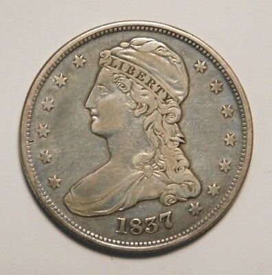 1837 Silver Capped Bust Half Dollar 50C Check Pics!! You Grade!!