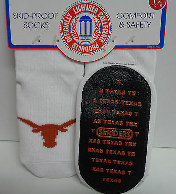 Skidders Toddlers No Skid Texas Long Horn Socks NWT Sz 12 Months