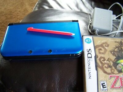 Nintendo 3DS XL (Latest Model) Blue/Black Handheld System (SPRSBKA1)+ Two Games