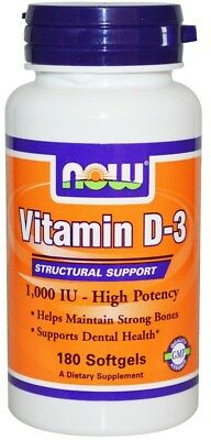 NOW Foods Vitamin D-3, 1000 IU