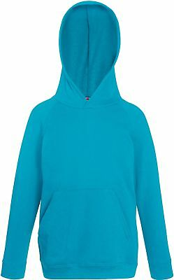 Sweatshirt Kinder Fruit of the Loom Kids Lightweight Hooded Sweat Hoodie Kapuze