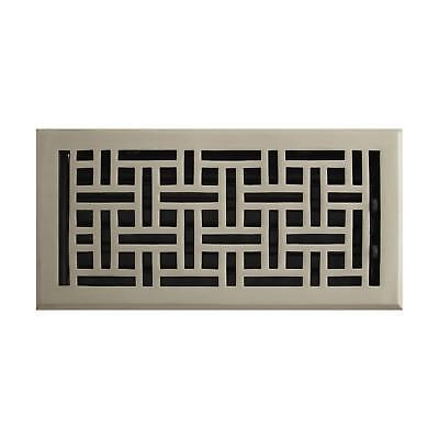 Signature Hardware Wicker Style Solid Brass Wall Register
