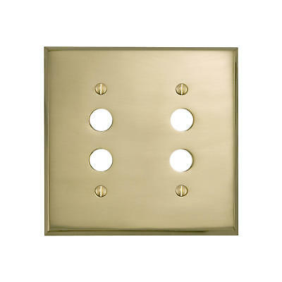 Signature Hardware Classic Solid Brass Double Push Button Plate
