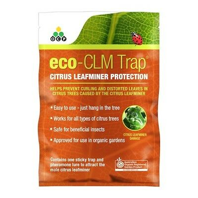 Eco-CLM Trap- Organic by OCP / Citrus Leaf Miner Protection / Prevent Curling