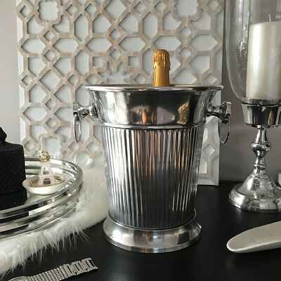 Silver Champagne Bucket/Wine Cooler/Ice Bucket/Metal Aluminium/Great Gift Idea
