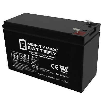 Mighty Max 12V 7.2AH SLA Battery for 385ci Portable Fish Finder 12V Charger