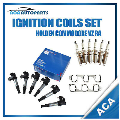 Ignition Coils for Holden Rodeo RA V6 Commodore VZ with Spark Plugs Inlet Gasket