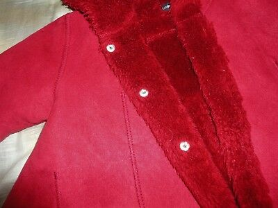 Jean Bourget girls coat, age 3, in red, with hood, beautiful condition