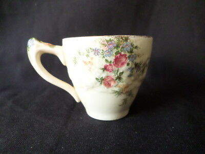 Crown Ducal. Florentine. Rosalie. Coffee Cup. Made In England.