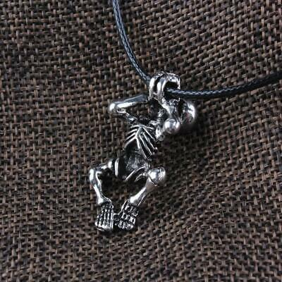 Ancient Viking Norse Amulet Talisman Skeleton Skull Pendant Vintage Necklace