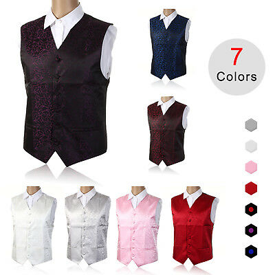 "Top SWIRL WEDDING Mens WAISTCOAT Chest Available S-5XL Size 36""-50"""