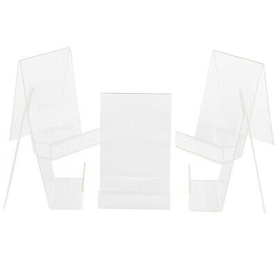 50x MINI Acrylic Thick Sign Display Holder Tag Label Shop Stand 4*2cm
