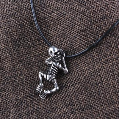 Ancient Norse Vikings Skeleton Skull Pendant Necklace Amulet Jewellery