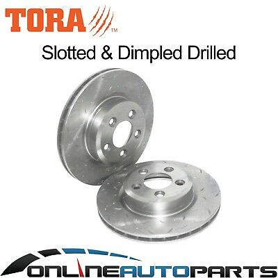 2 Front Drilled Slotted Disc Brake Rotors Territory TX TS TY 6/04on Ghia AWD RWD