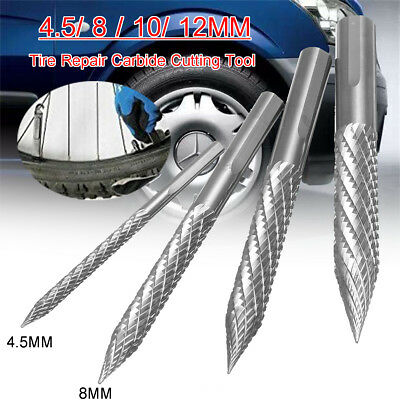 3/4.5/6/8/10/12mm Tire Repair High Carbide Cutting Tool Drill Reamer Bit Burr