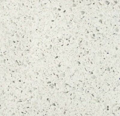 "Quartz Countertop Engineered Prefab 108""X26""X3/4"" Frost White"