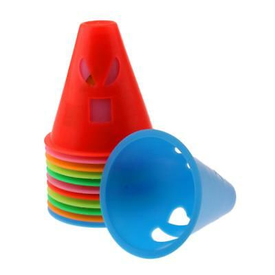 12Pcs Mix Color Expressions Style Roller Skating Skateboard Cones Pile Cup
