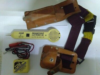 Progressive Electronics The Tracer 77M, 200B inductive amplifier & leather pouch