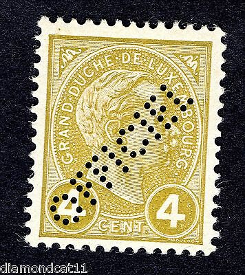1898 Luxembourg 4c Bistre PERFIN OFFICIEL MNH R23780