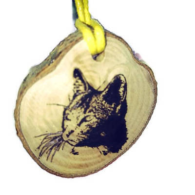 Cat Personalized wooden Scented 2D Hanging Car Home Oil Air Freshener Freshener