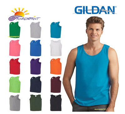 3b808b96a2 Gildan Men's Heavy Cotton Tank Top Plain Tee Muscle Gym Sleeveless - 5200