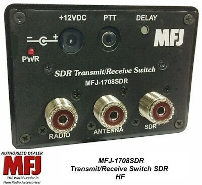 MFJ-1708SDR Antenna switch, HF, Transmit/Receive Switch For SDR, 200W SSB PEP