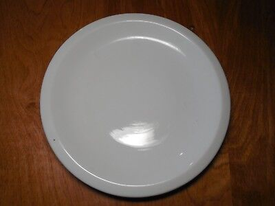 "Tienshan CAFEWARE Set of 4 Dinner Plates 10 1/4"" All White Rim Smooth B"
