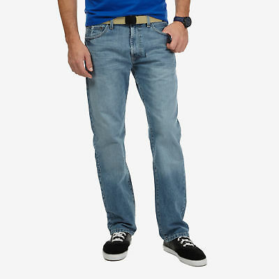 Nautica Relaxed Fit Light Wash Crosshatch Denim Jeans
