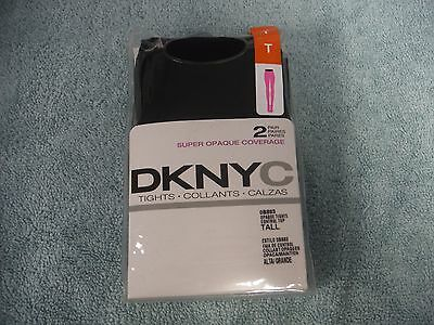 Brand New DKNYC Black Opaque Tights 2 Pack Size TALL ~~ FreE ShiPPinG ~~
