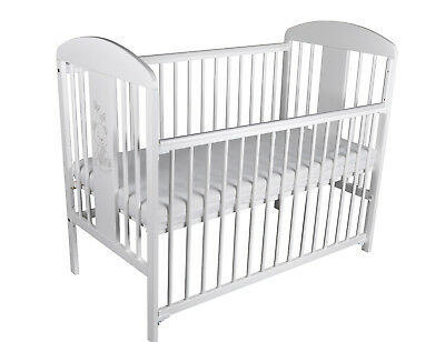 Baby cot dropped side with mattress included