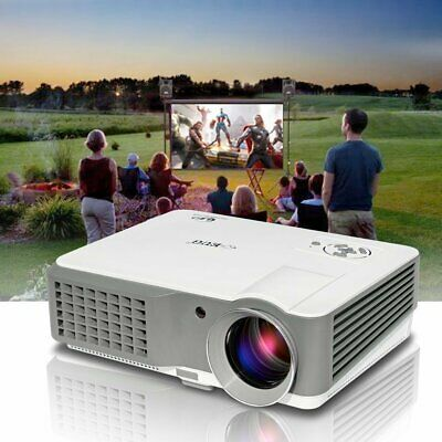EUG HD 4000lms Video Projector 1080p Home Theater Movie Night HDMI*2 USB 7000:1
