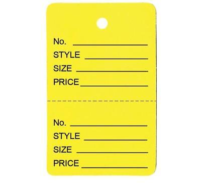 1000 Large Perforated Merchandise Coupon Price Tags Yellow