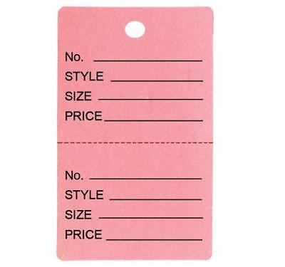 1000 Large Perforated Merchandise Coupon Price Tags Pink