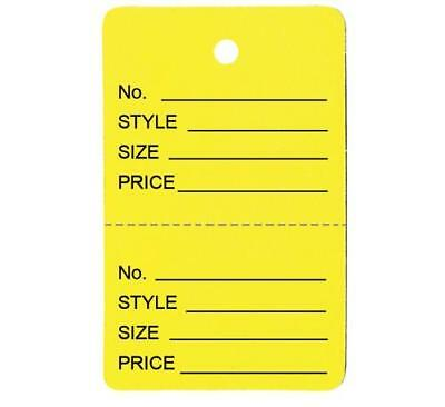 1000 Small Perforated Merchandise Coupon Price Tags Yellow