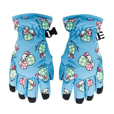 2-4 Yrs Kids Windproof Waterproof Winter Warm Ski Gloves Mittens Sky Blue
